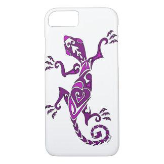 Lizard tattoo/henna in purple iPhone 8/7 case