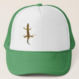 lizard, trucker hat
