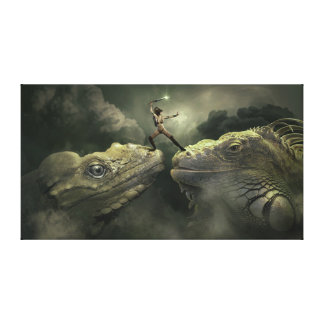 Lizards Canvas Print