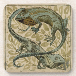 Lizards, design for a tile (w/c on paper) coaster