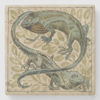 Lizards, design for a tile (w/c on paper) stone coaster