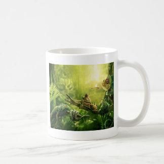 Lizards Frogs Jungle Reptiles Landscape Basic White Mug
