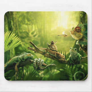 Lizards Frogs Jungle Reptiles Landscape Mouse Pads