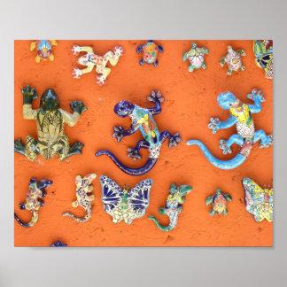Lizards in Cozumel Poster