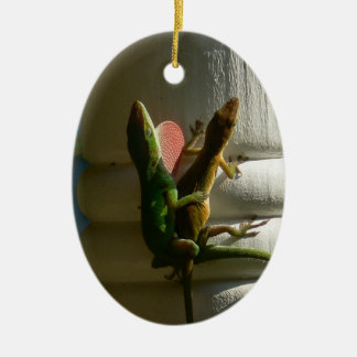 Lizards in Love Christmas Ornament