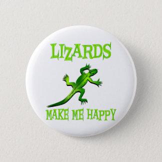 Lizards Make Me Happy 6 Cm Round Badge