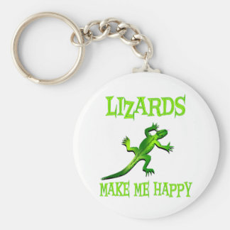 Lizards Make Me Happy Key Ring