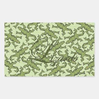 Lizards Rectangle Stickers