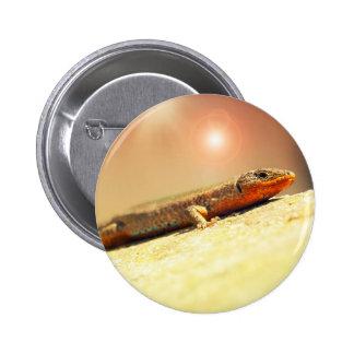 Lizart heat 6 cm round badge