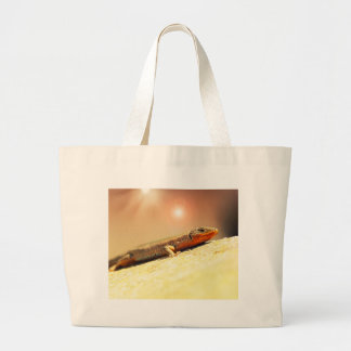 Lizart heat large tote bag