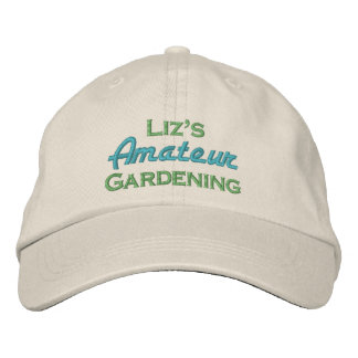 Liz's Amateur Gardening Embroidered Hats
