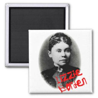 Lizzie Borden Square Magnet