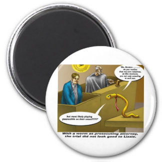 Lizzie Borden Trial Funny Cartoon Gifts 6 Cm Round Magnet
