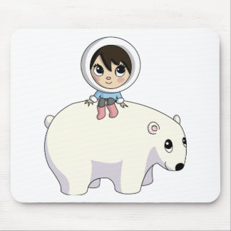 Lizzy and Frosting the Polar Bear Mouse Pad