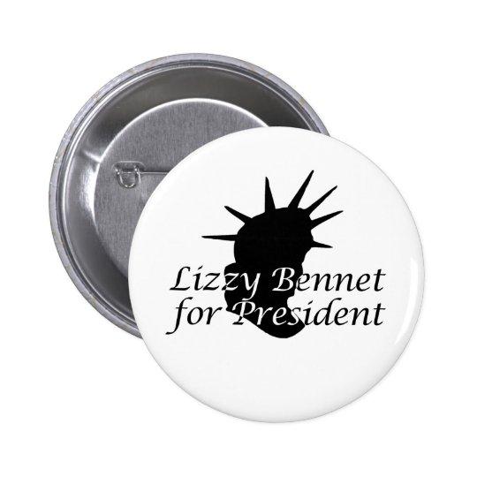 Lizzy Bennet for President 6 Cm Round Badge