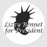 Lizzy Bennet for President Stickers
