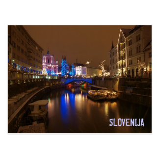 Ljubljana Slovenia in December Postcard