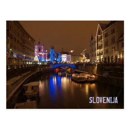 Ljubljana Slovenia in December Postcards