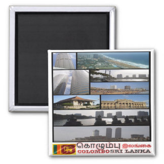 LK - Sri Lanka - Colombo - Mosaic - Collage Square Magnet