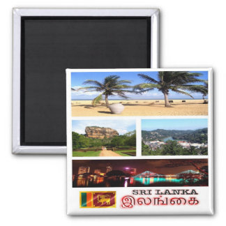 LK - Sri Lanka - Mosaic - Collage Square Magnet