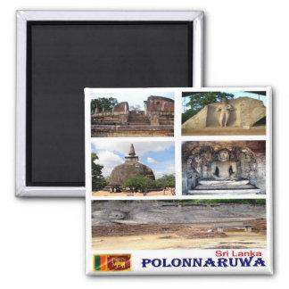 LK - Sri Lanka - Polonnaruwa - Mosaic - Collage Square Magnet