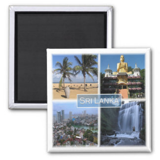 LK * Sri Lanka Square Magnet