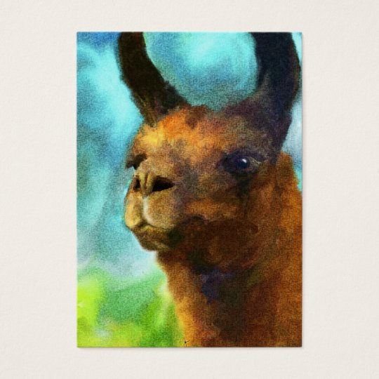 Llama ACEO Art Trading Cards
