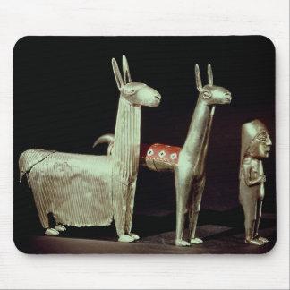 Llama, alpaca and woman mouse mat