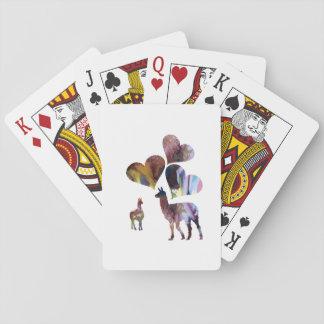 Llama art playing cards
