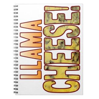 Llama Blue Cheese Spiral Notebook