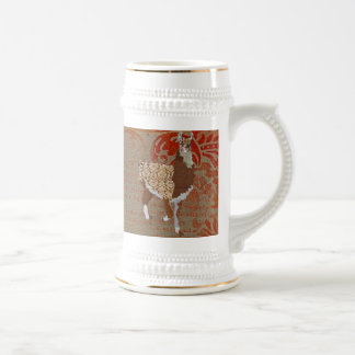 Llama Bronze Ornate Stein Coffee Mug