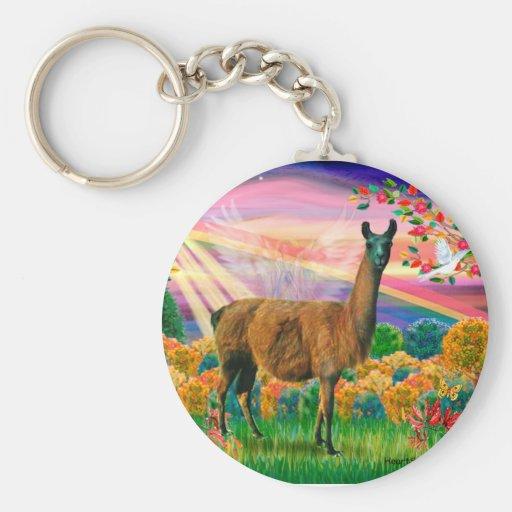 Llama (brown) - Autumn Angel Keychain