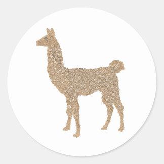 Llama Classic Round Sticker