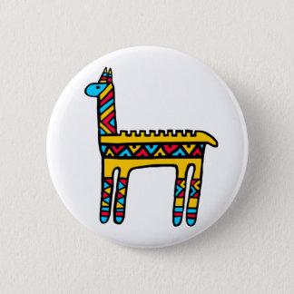 Llama-colors 6 Cm Round Badge