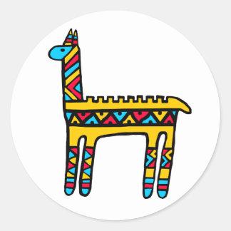 Llama-colors Classic Round Sticker