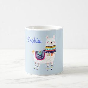 Llama Cute Custom Name Coffee Mug