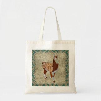 Llama  Damask Bag