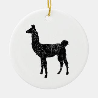 Llama Round Ceramic Decoration