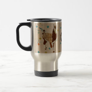 Llama Diamond Monogram  Travel Mug