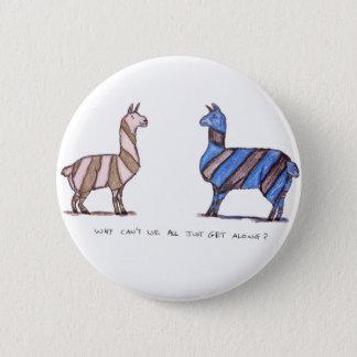 llama dress 6 cm round badge