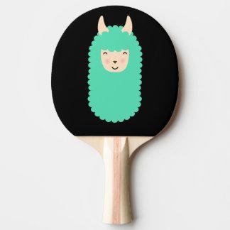 Llama Emoji Happy Ping Pong Paddle