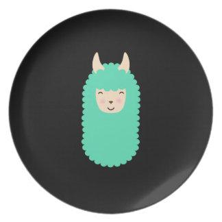 Llama Emoji Happy Plate