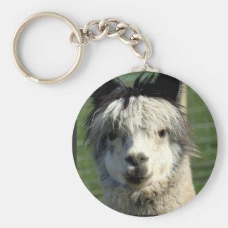 Llama Face Keychain