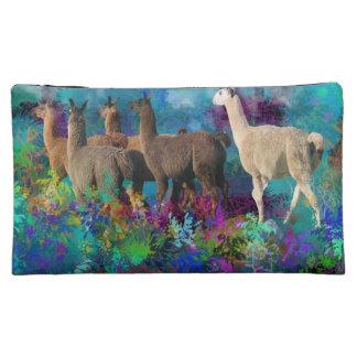 Llama Five Walk in Fantasy Land for Camelids Makeup Bag