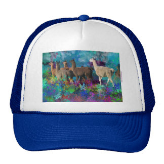 Llama Five Walk in Fantasy Land for Camelids Hats