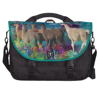 Llama Five Walk in Fantasy Land for Camelids Laptop Computer Bag