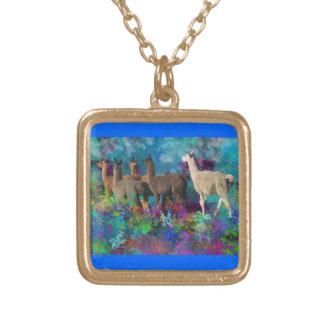 Llama Five Walk in Fantasy Land for Camelids Custom Jewelry