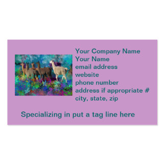 Llama Five Walk in Fantasy Land for Camelids Pack Of Standard Business Cards