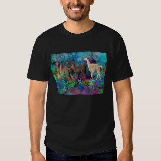 Llama Five Walk in Fantasy Land for Camelids T-shirt