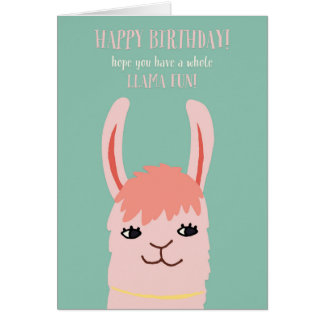 Llama Fun Birthday Card